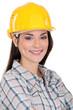 Portrait of female manual worker