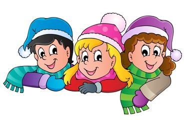 Winter person cartoon image 4