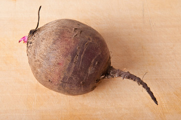 beets on a wooden background