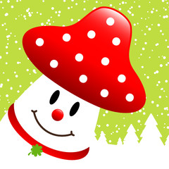 Fly Agaric Winter Forest