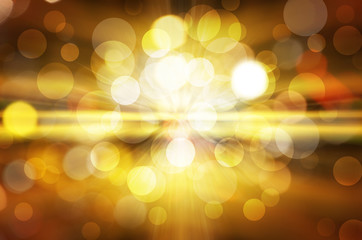 Abstract background of  yellow  lights