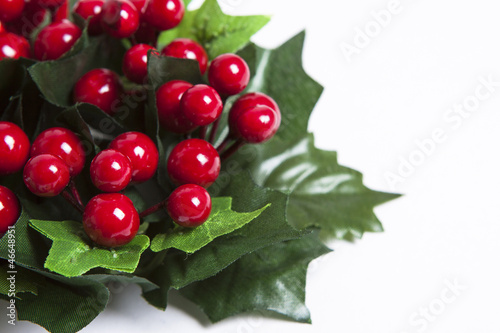 Christmas wreath of red berries