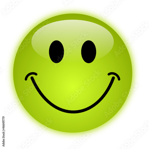 glossy green vector smiley