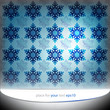 cool blue snowflakes motive vector template