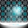 magic dark bright snowflake motive vector template