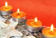 Adventsdekoration in orange
