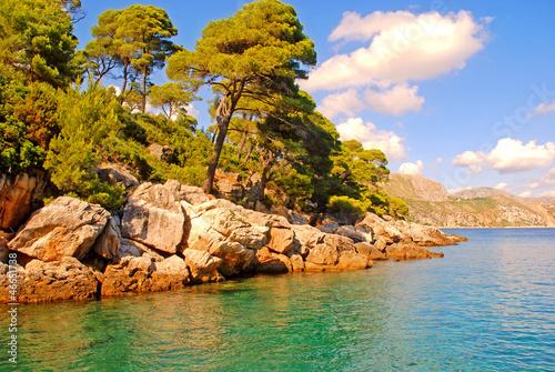 Fotobehang Adriatic sea coast,Dalmatia, Croatia