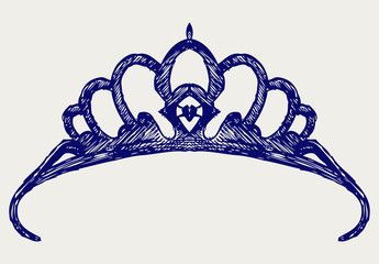 Crown. Doodle style