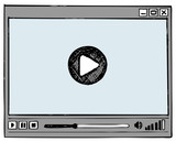Fototapety Media Player. Doodle style