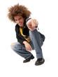 Joven adolescente estilo afro urbano.
