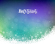 Abstract Merry Christmas snowflakes colorful background, vector