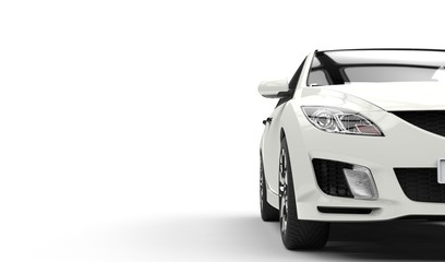 White Car Cutout