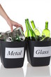 Glass and metal: recycling