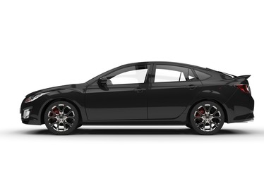 Black Car Side View Sports Edition