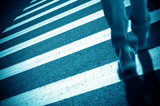 Zebra crossing and pedestrian