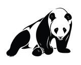Fototapety Isolated panda illustration