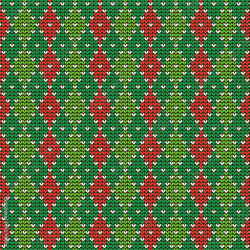 Christmas argyle background, seamless pattern included