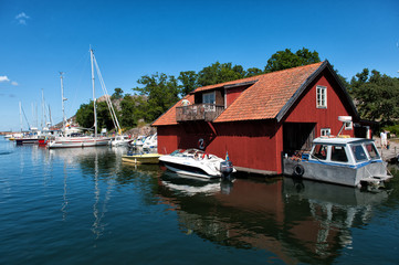 Swedish summer at idyllic Harstena island in the Baltic sea