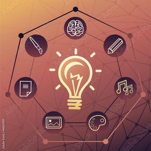 Vector idea concept
