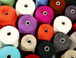 closeup of colorful thread on background