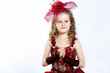 Little girl in beautiful dress