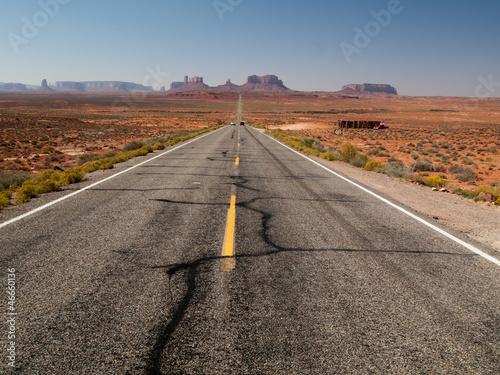 Poster Route de Monument Valley - à perte de vue