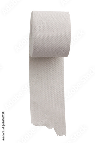 Unwound a roll of toilet paper