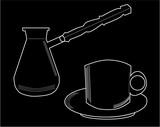 čerstvá káva šálek a podšálek