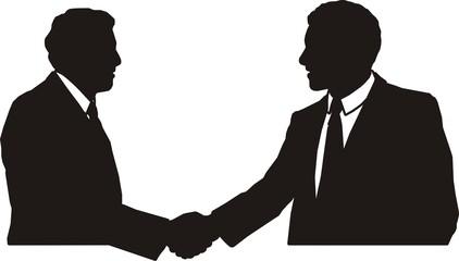 pictogramme siluhouettes partenariat