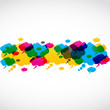abstract colorful speech bubbles vector