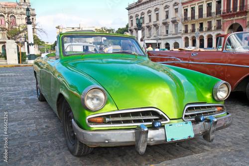 Poster Cubaanse oldtimers Classic citroen in Havana.