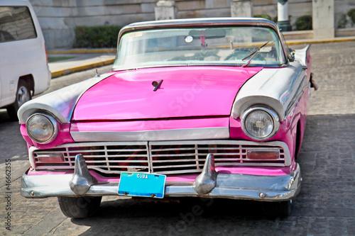 Classic Ford  in Havana, Cuba. - 46662355