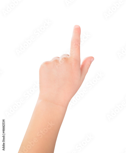 Touch screen child gesture