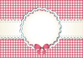 Karo-Tischdecke mit Dekoration