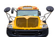School bus américain de face, fond blanc - USA