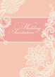 Wedding invitation. Lace background.