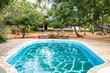 Swimming pool in African Garden