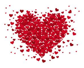 Herz aus fliegenden Herzen
