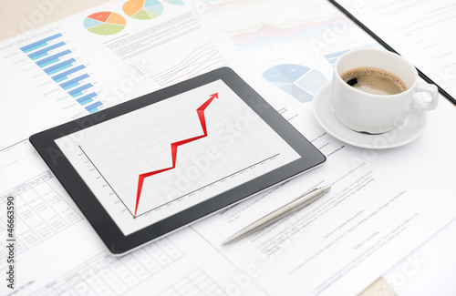 Success business with digital tablet