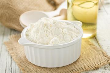 Flour, oil