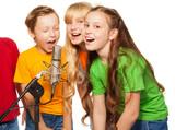 Boys and girls singing