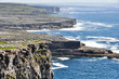 Cliffs in Inishmore, Aran islands in Ireland