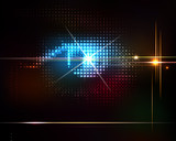 Fototapety Abstract shiny technology trendy background.