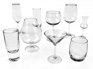 Different kinds of glasses
