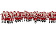 Santa Claus Crowd Dancing, Christmas Party Merry Christmas Shape