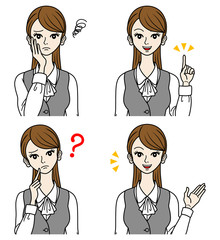 Office Lady Various expressions