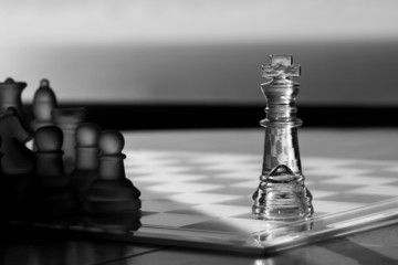 Chess, King: Business Concept - Advertising, Exposure, Marketing
