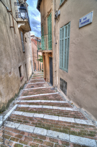 Alley in Cannes Old Town, France
