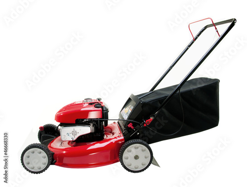 Leinwanddruck Bild Red Lawn Mower