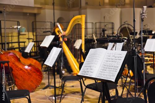 mata magnetyczna Instrumenty muzyczne i nuty